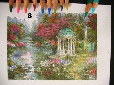 Prismacolor Pencil Coloring Thomas Kinkade Hop Art Studio